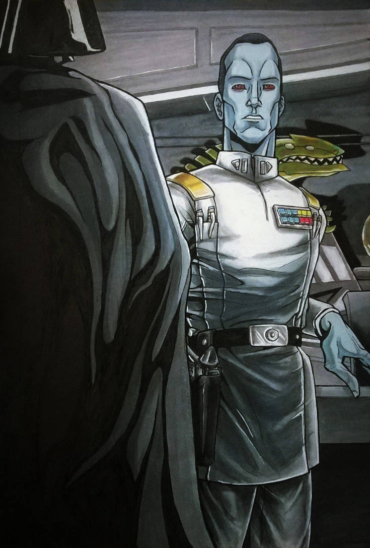 Thrawn acquiesces to Lord Vader by DarkLordRinku