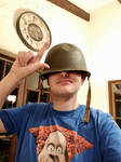 me wearing a Helmet