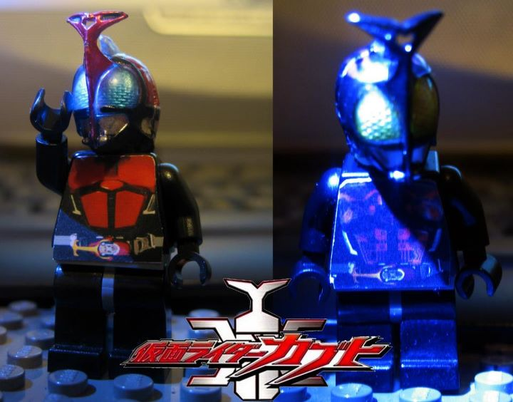 Custom LEGO Kamen Rider Kabuto and Dark Kabuto by Digger318