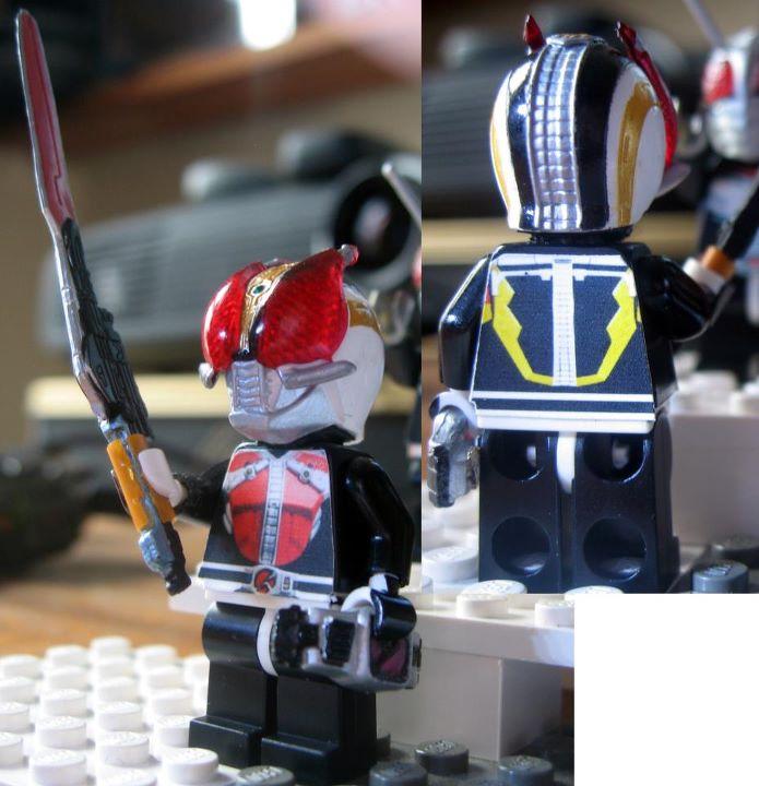 Custom LEGO Kamen Rider Den-O Sword Form by Digger318