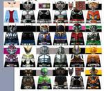 Kamen Rider Ryuki Dragon Knight LEGO Decals