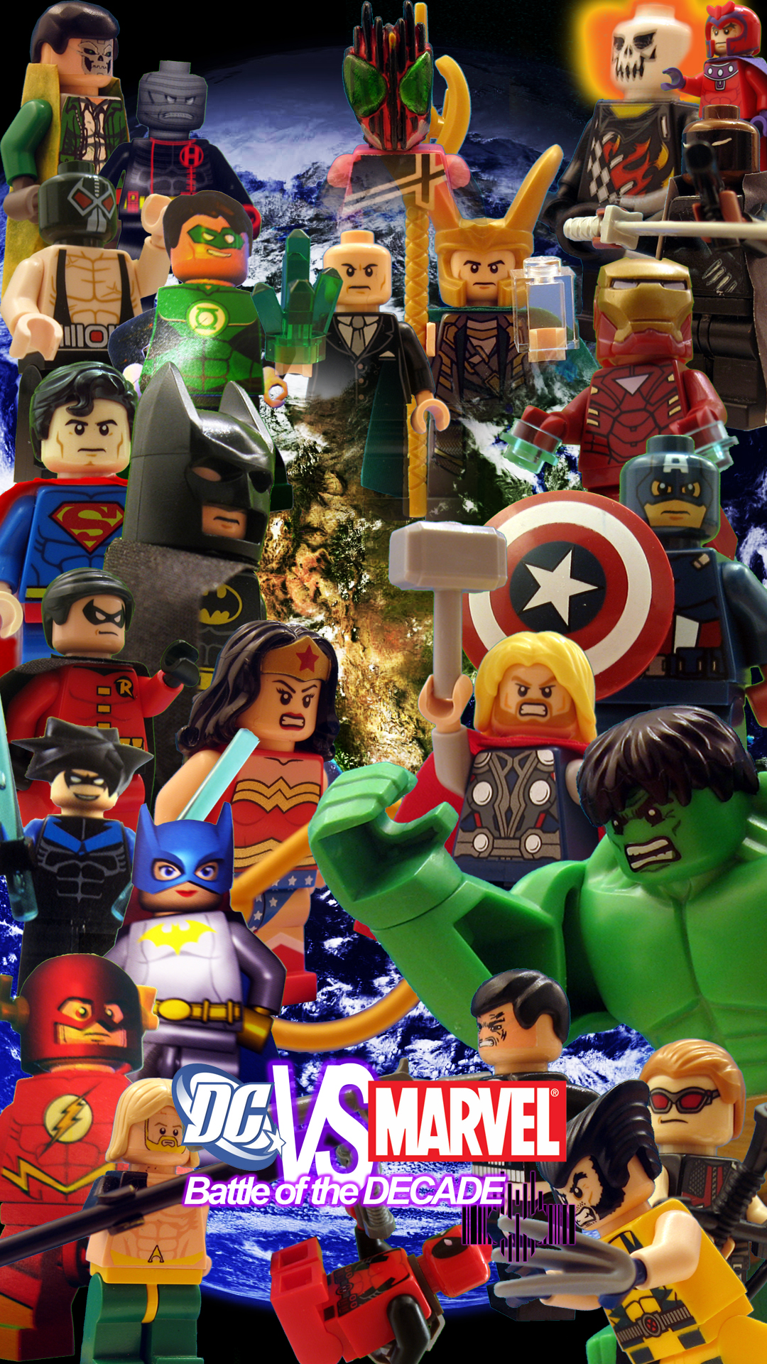 Lego dc vs marvel battle of the decade poster by digger318