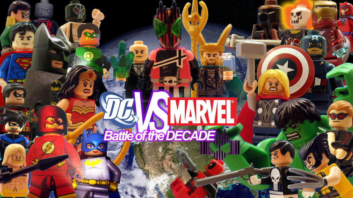 Lego dc vs marvel battle of the decade wallpaper by digger318