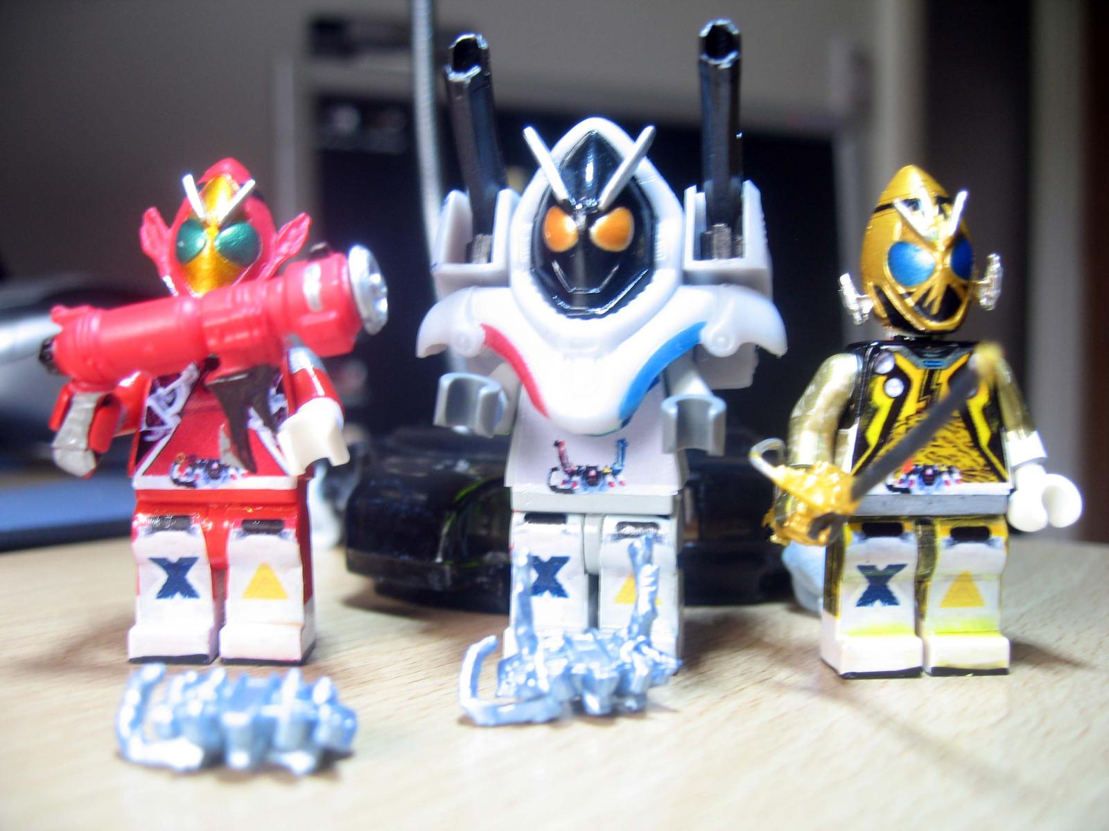 Custom LEGO Kamen RIder Fourze Fire Magnet Elek by Digger318