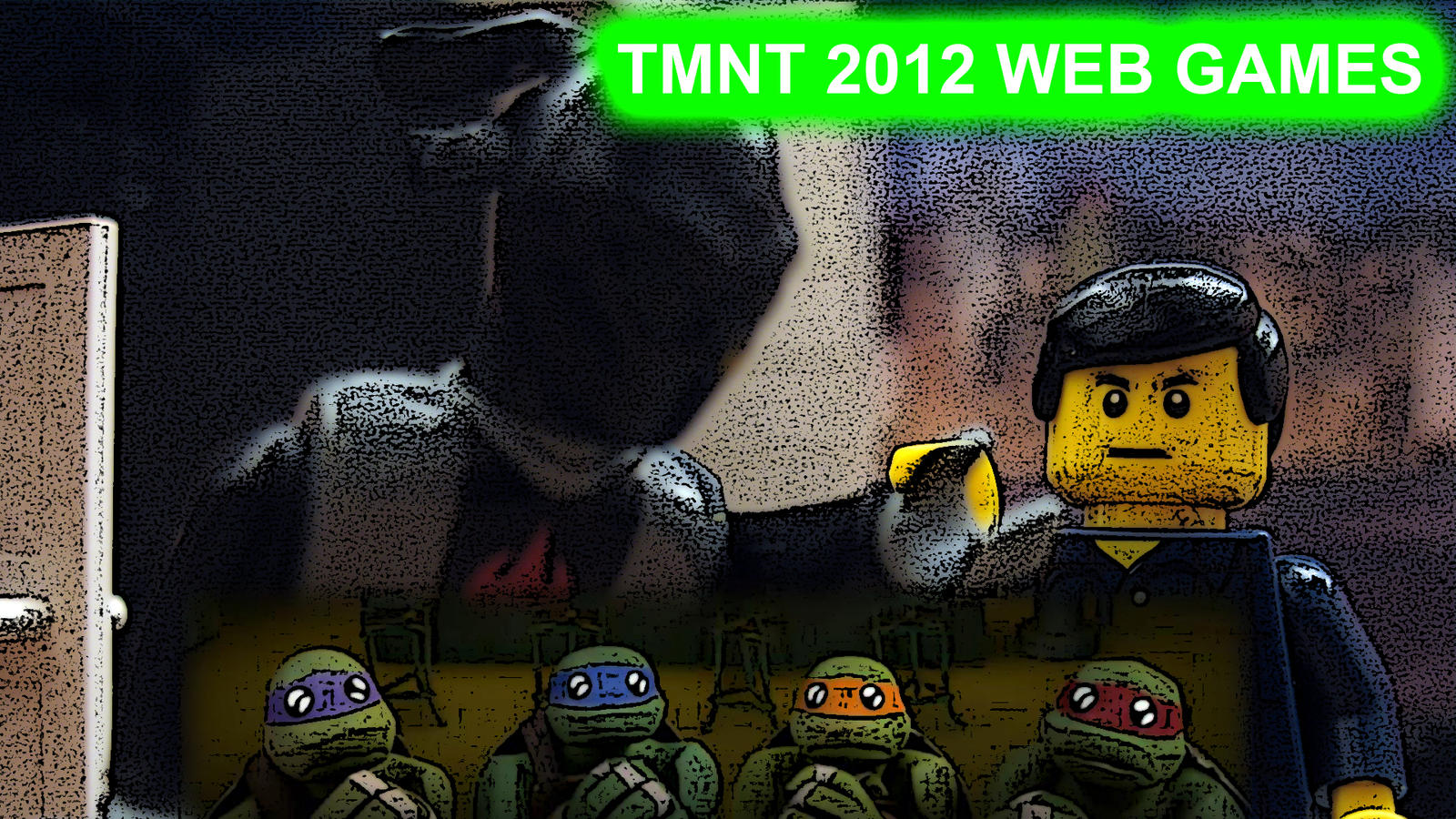 12 TMNT 2012 Web Games Title Card by Digger318