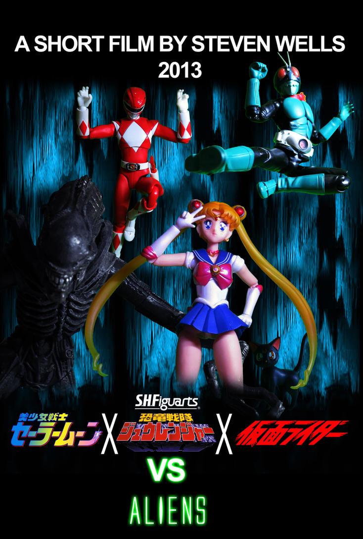 Sailor Moon X Power Rangers X Kamen Rider ALiens by Digger318
