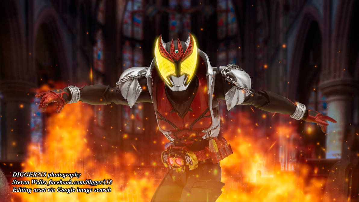 Figuarts Kamen Rider Kiva Photoshop Time Lapse by Digger318