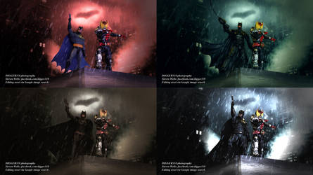 Batman X Kamen Rider Kiva Photoshop Time Lapse by Digger318