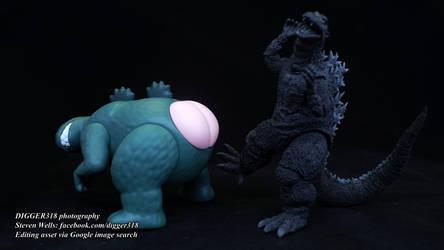 Crayon Shin Chan Monster Shirimarudashi Godzilla