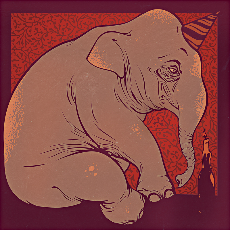 the birthday elephant by garbages