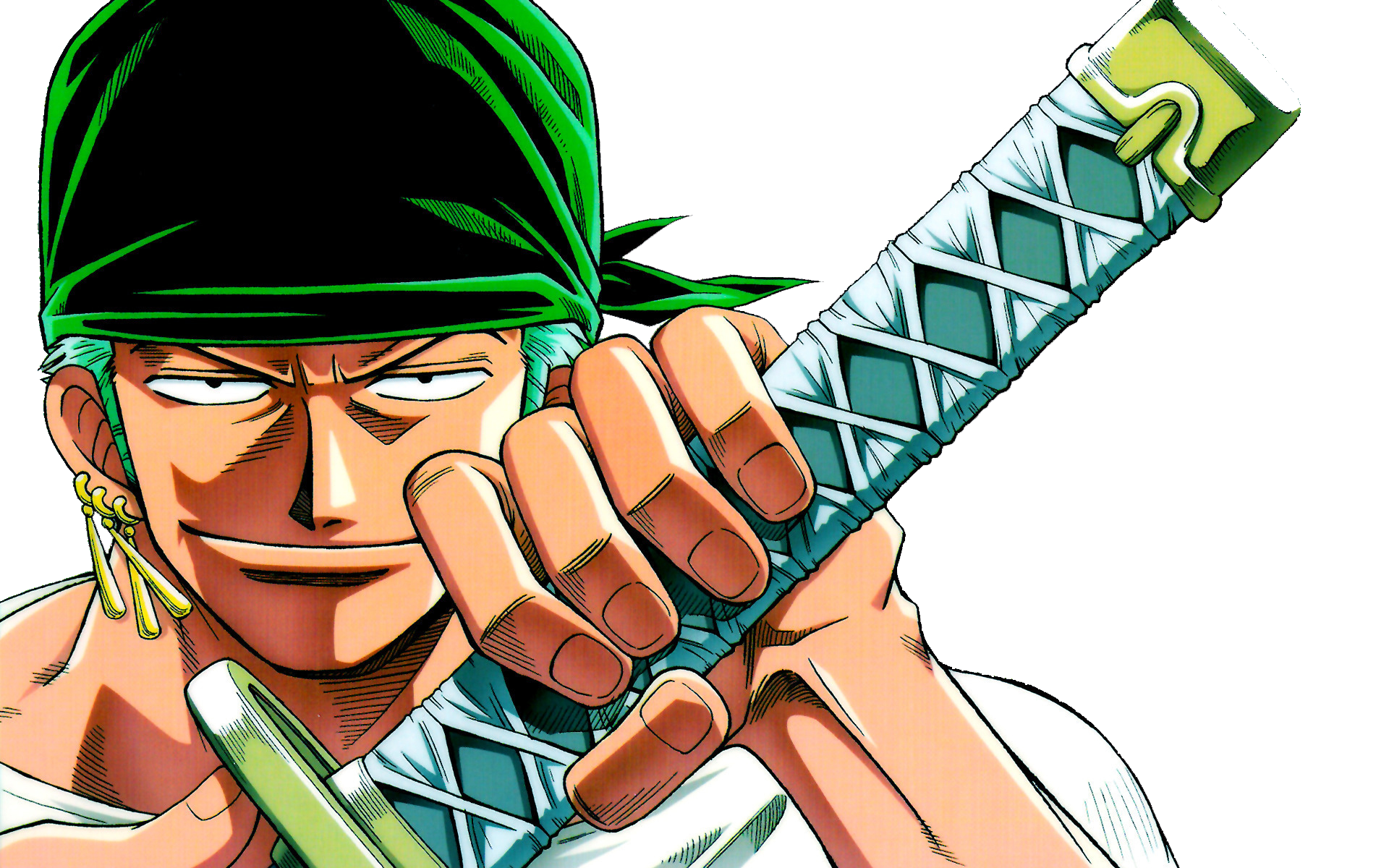 Roronoa Zoro HD PNG Drawing His Sword By CrystalCheater