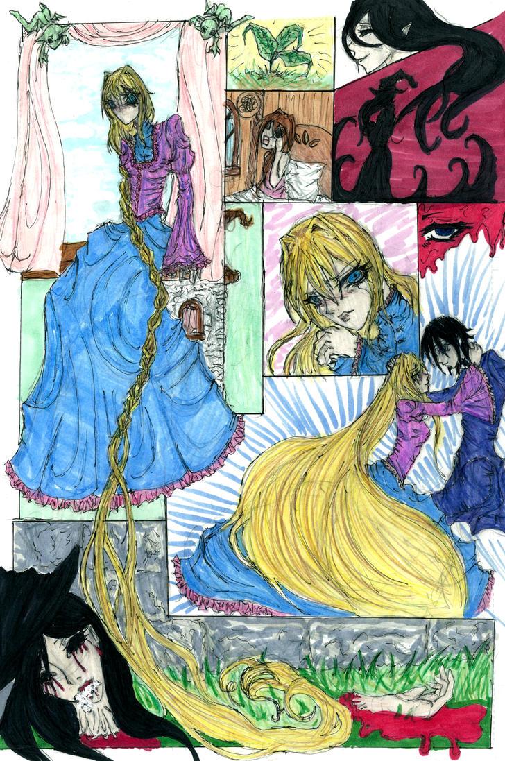 Rapunzel comic page cover by nekonomanga on DeviantArt