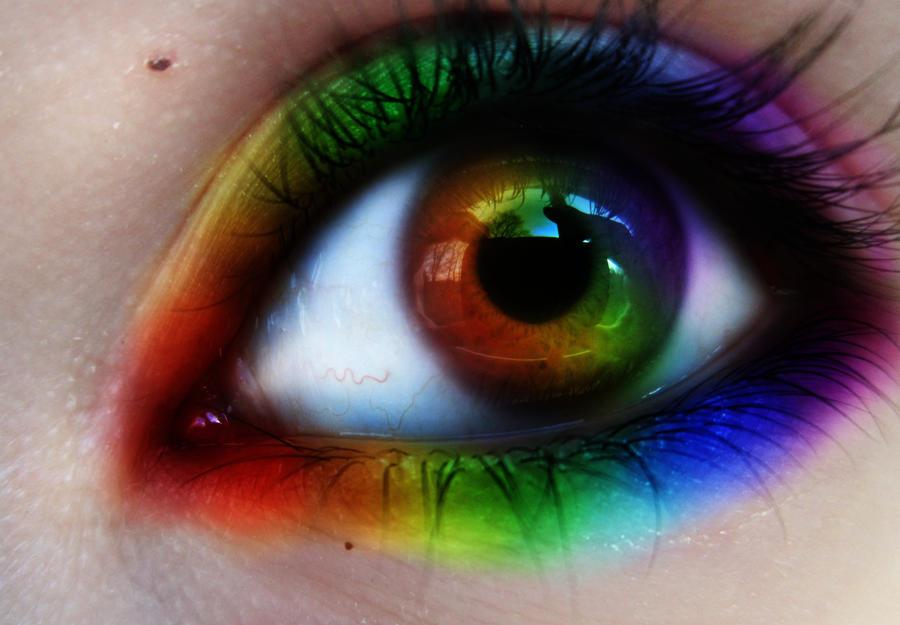 rainbow eye pics