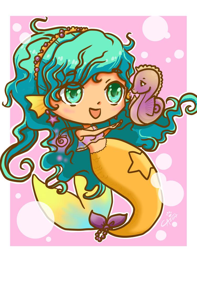 Happy Mermaid by manekiCarrie