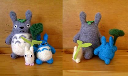 Totoro family by Hikari-chyan