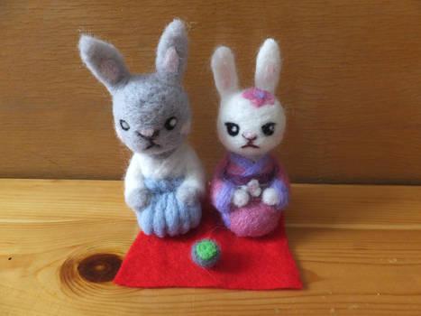 Japanese Rabbit Family