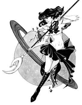 Inktober: Sailor Saturn