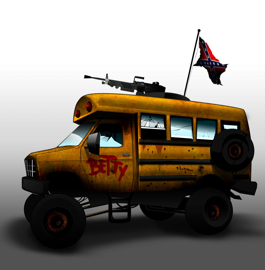 Mobile Survival Vehicle : Betty the post apocalyptic survival vehicle by omarco on