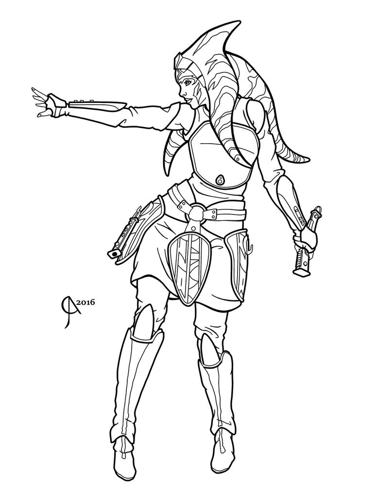 Star Wars Rebels Ahsoka Coloring Pages Pictures To Pin On Ahsoka Coloring Pages
