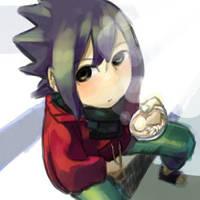 Sitting Sasuke by mozukuumee31