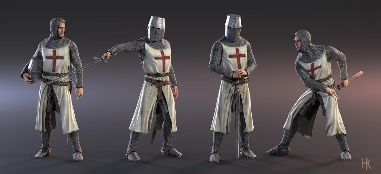 Character Modeling In Blender Pdf : D character model knight templar by macx on deviantart