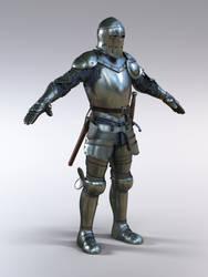 15th century full plate knight
