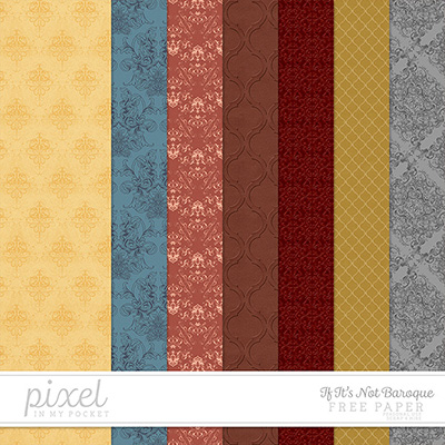 If It's Not Baroque // Embossed Papers by pixelinmypocket