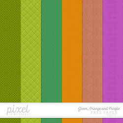 Green, Orange and Purple // Papers