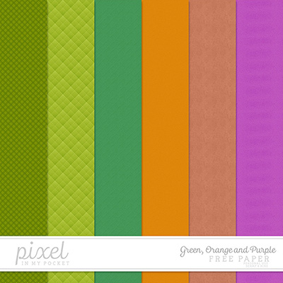 Green, Orange and Purple // Papers by pixelinmypocket