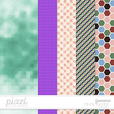 Geometrics // Papers by pixelinmypocket