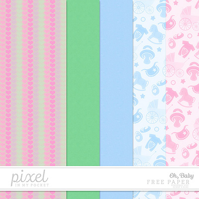 Oh, Baby // Papers by pixelinmypocket