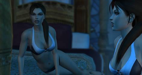 Lara alone at night 1
