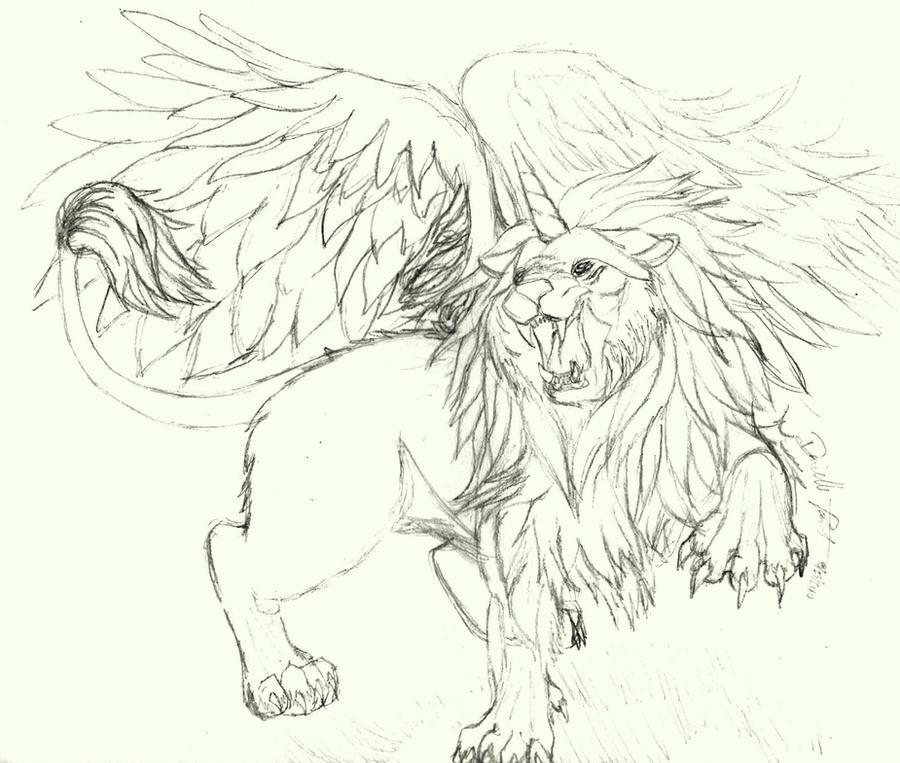 Winged Lion By StarlightAngel Wolf On DeviantArt