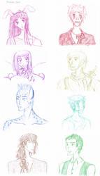 Christmas sketches by Sachi-pon