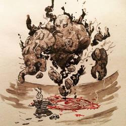InkTober Day 8- Rock- The Conjurer