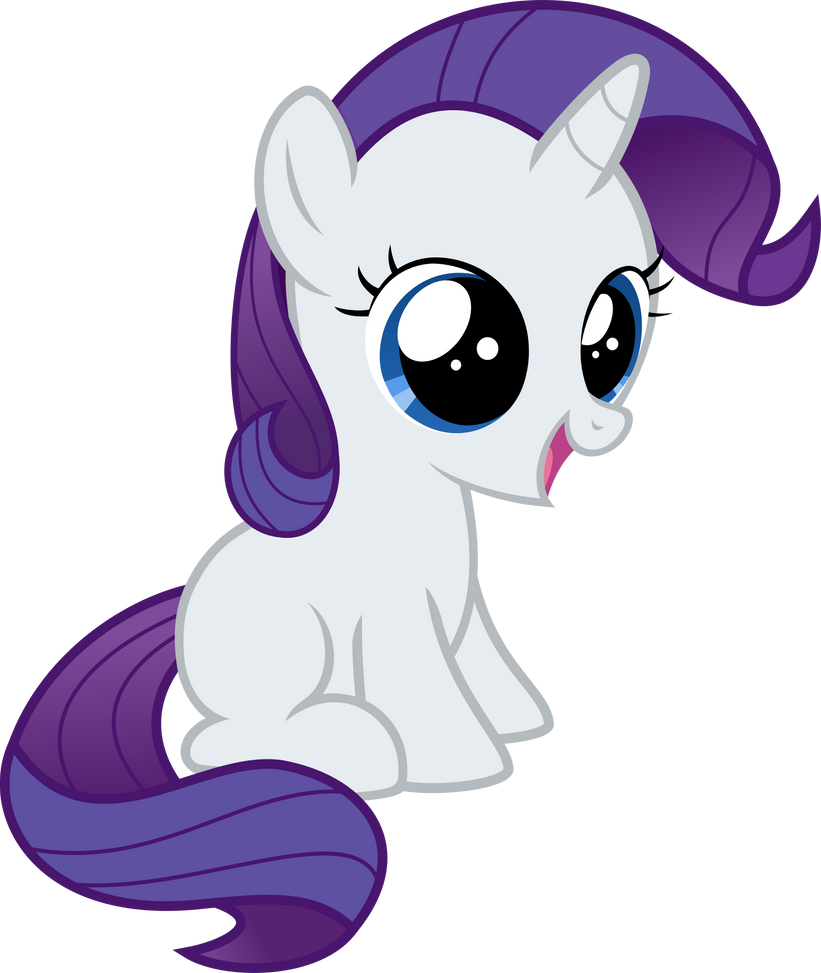 Filly Rarity Vector by CrimsonLynx97