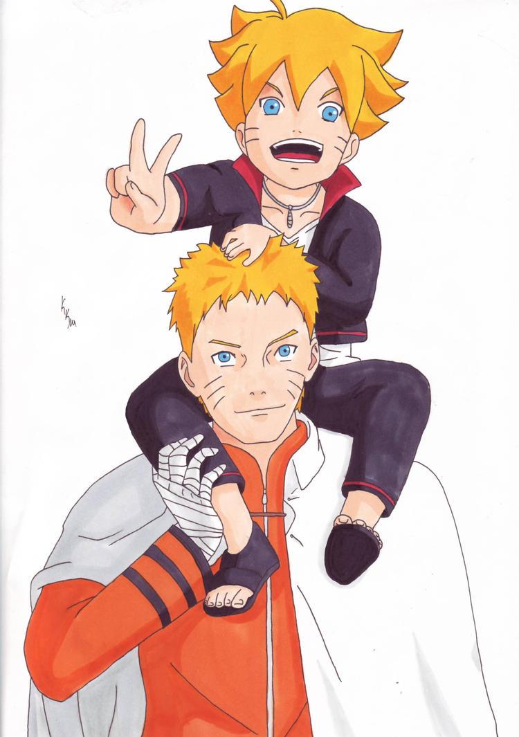 Naruto and Bolt by IshidaYuki
