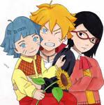 Bolt, Himawari and Sarada