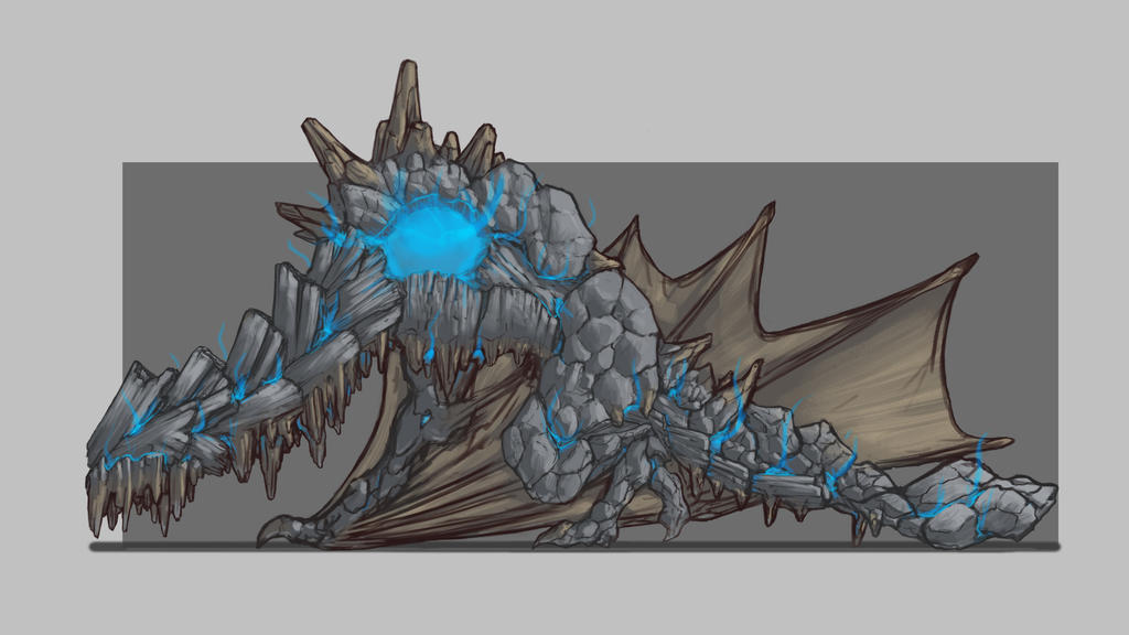 Golem Dragon by Evolution-Arts