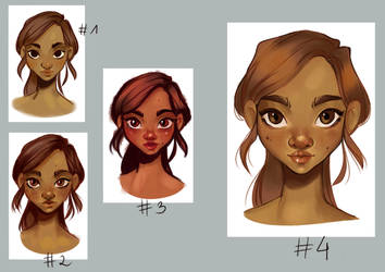 Loish's tutorial - female face practice by MatMyHair