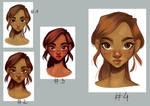 Loish's tutorial - female face practice
