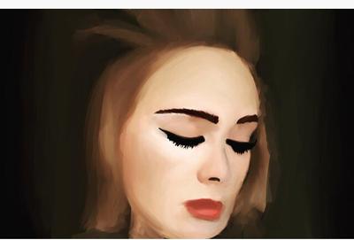 Adele digital painting  by calplanet