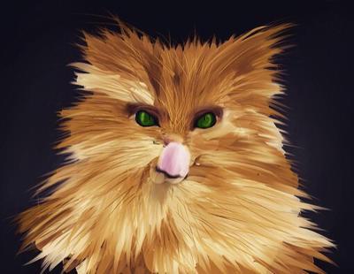 Digital kitty painting by calplanet