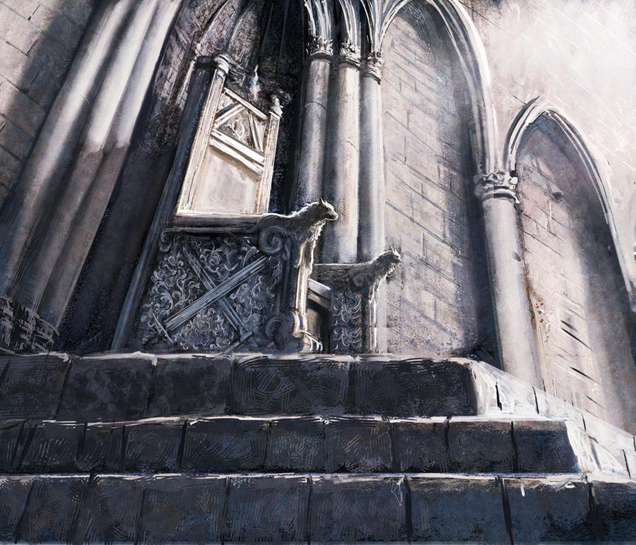 Winterfell throne by MarcSimonetti
