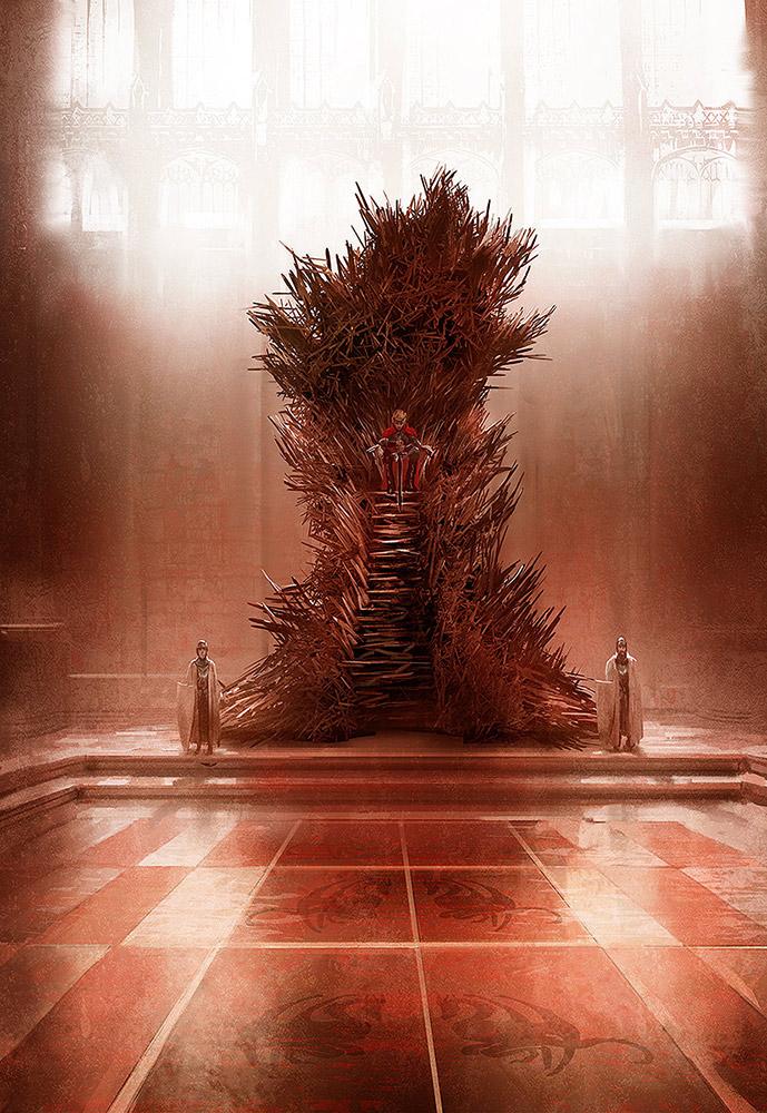 The Iron throne by MarcSimonetti