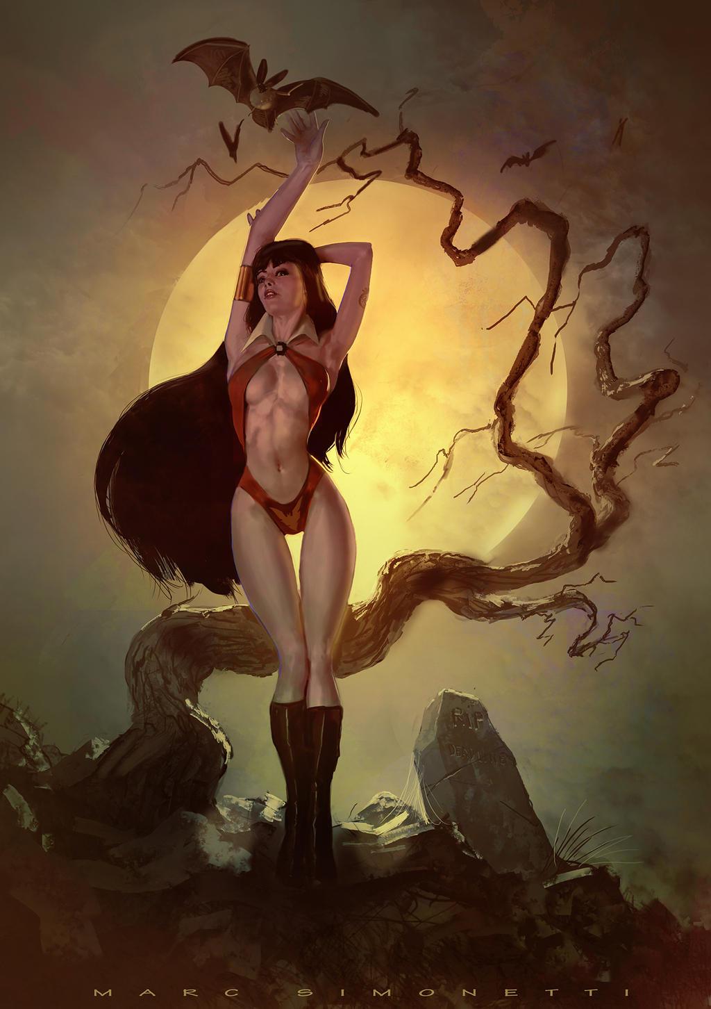 Vampirella by MarcSimonetti