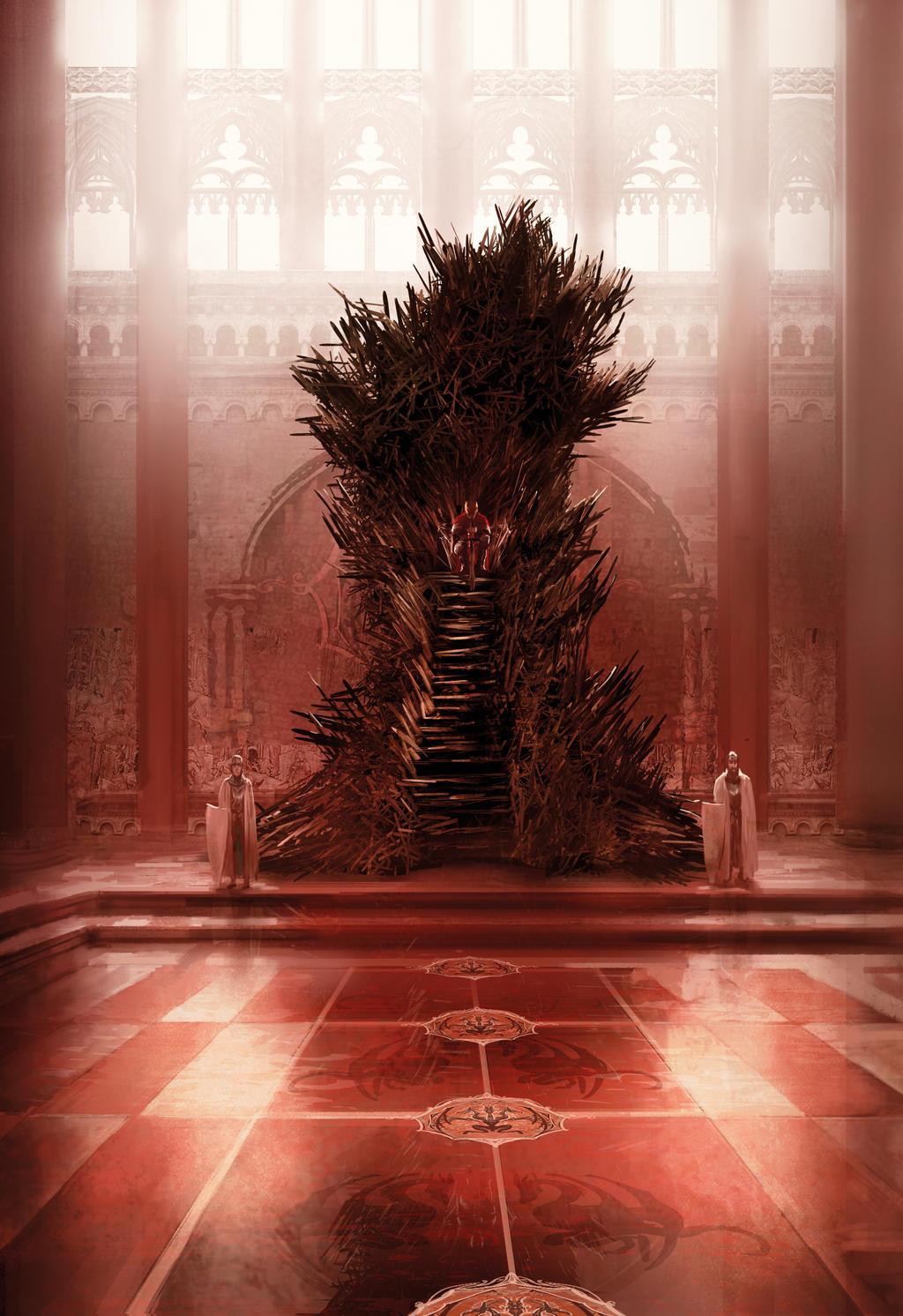 Iron throne by marcsimonetti on deviantart for Iron throne painting