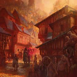 The Red Procession by MarcSimonetti