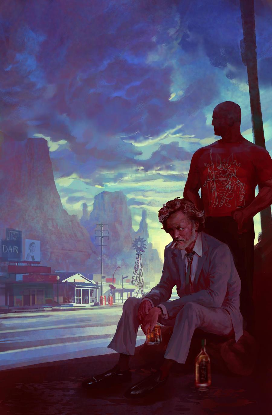 American gods by Neil Gaiman by MarcSimonetti