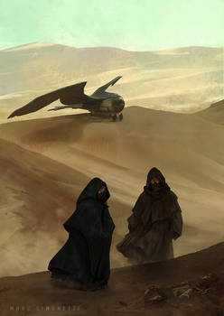 Corpse in the desert.